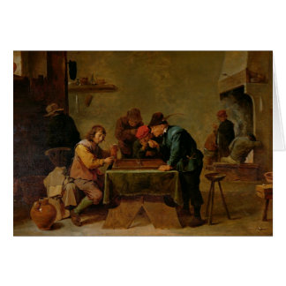 Backgammon Players, c.1640-45 Card