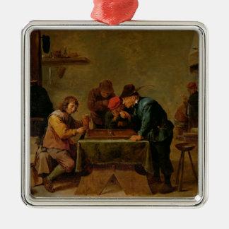 Backgammon Players, c.1640-45 Metal Ornament