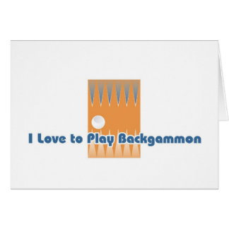 Backgammon player's greetings card