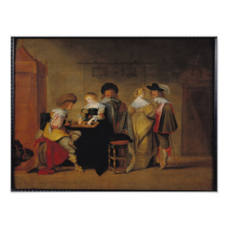 Backgammon Players Poster