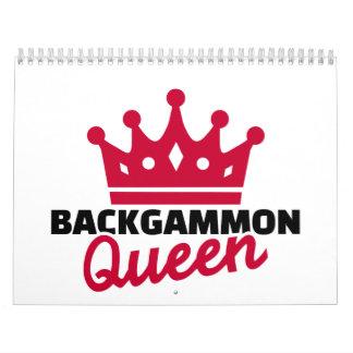 Backgammon Queen Calendar