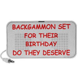 backgammon speaker