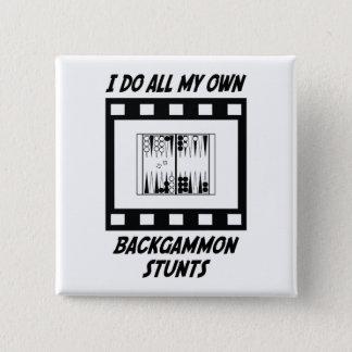 Backgammon Stunts Pinback Button
