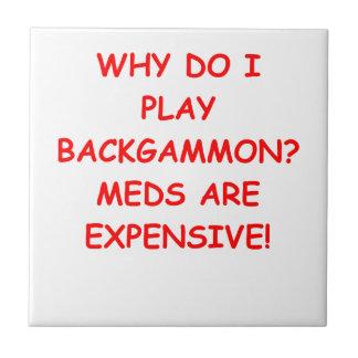 backgammon small square tile