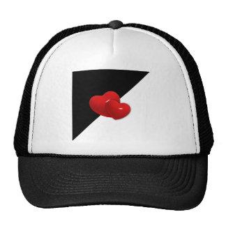 backgr rojo de los corazones del triángulo blanco