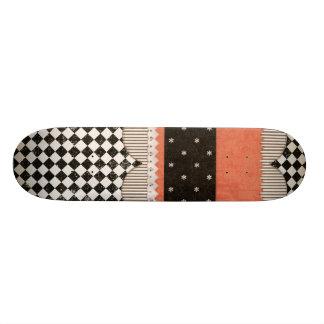 background01 BLACK WHITE ORANGE COLORS SCRAPBOOKIN Skateboard Deck