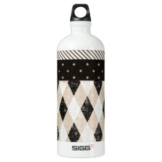 background05 NEUTRAL COLORS SCRAPBOOKING BACKGROUN Aluminum Water Bottle