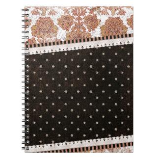 background10 SCRAP-BOOKING PATTERNS FLOWERS FLORAL Spiral Notebook