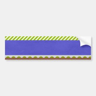 background24 GREEN WHITE BURGUNDY BLUE STRIPES DEC Bumper Sticker