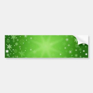 background-313345 HAPPY GREEN WHITE  background wi Car Bumper Sticker