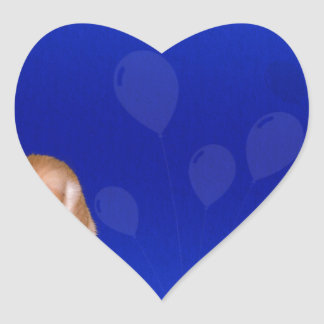background #41 heart sticker