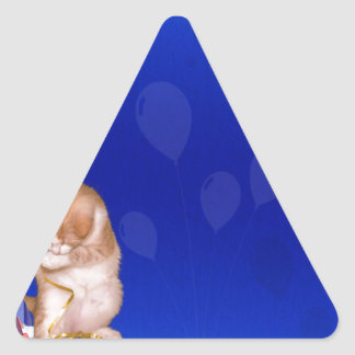 background #41 triangle sticker