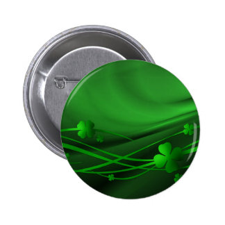 background-68935 SHINEY GREEN FOUR LEAF CLOVER SWI Pinback Button