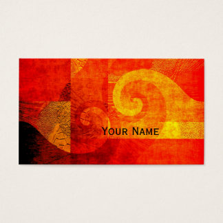 Background Antique Spirals + your text Business Card