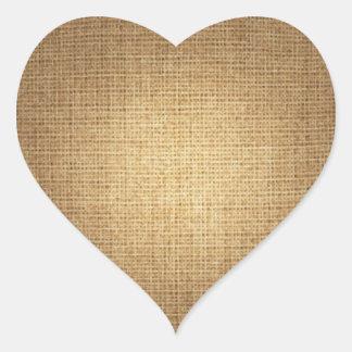 Background Burlap Template Heart Sticker