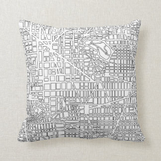 Background city map throw pillow