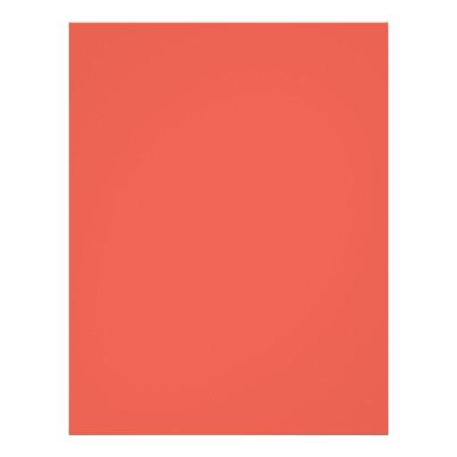 Background Color - Coral Flyer