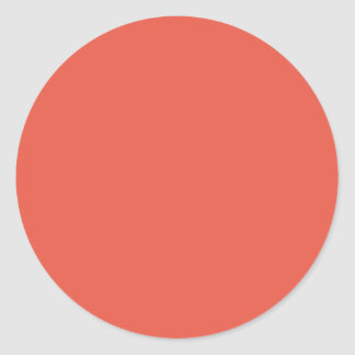 Background Color - Coral Classic Round Sticker