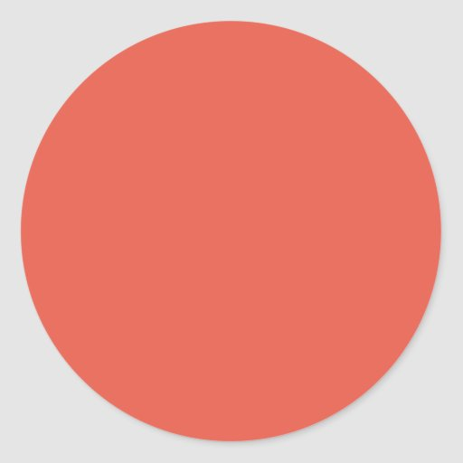 Background Color - Coral Sticker