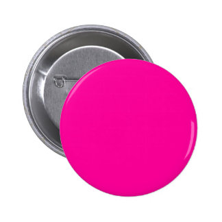 Background Color FF0099 Fuchsia Magenta Hot Pink Pinback Button