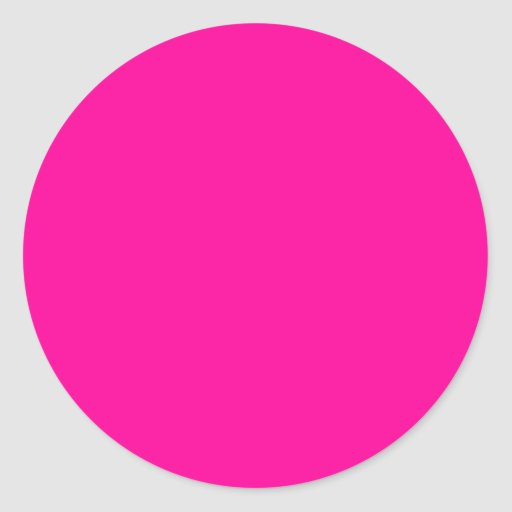 Background Color FF0099 Fuchsia Magenta Hot Pink Round Stickers