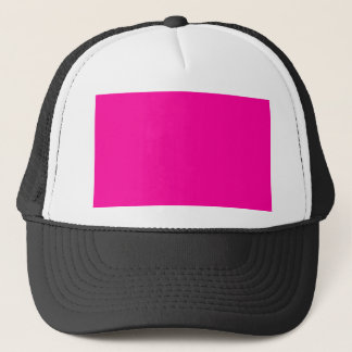 Background Color FF0099 Fuchsia Magenta Hot Pink Trucker Hat