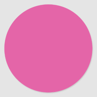 Background Color - Fuchsia Round Sticker