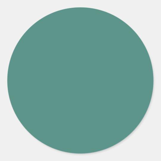 Background Color - Jade Classic Round Sticker
