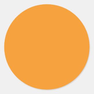 Background Color - Orange Round Sticker