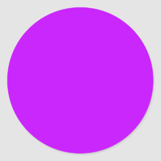 Background Color Solid Purple Create your own cust Classic Round Sticker