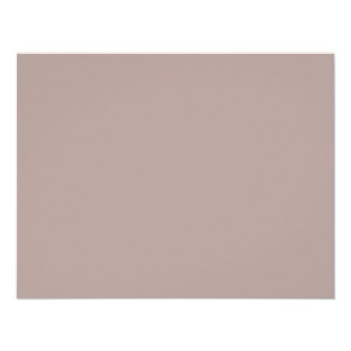 Background color taupe paper invitation card zazzle - Color taup ...
