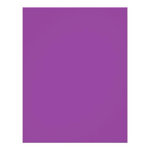 """Background Color - Violet 8.5"""" X 11"""" Flyer"""