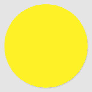 Background Color - Yellow Round Sticker