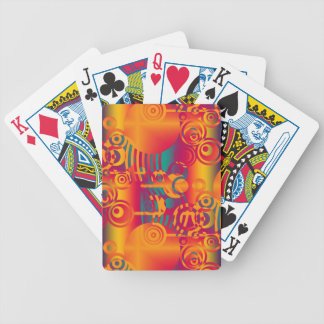 Background Composing - Modern Colorful Circle Bicycle Playing Cards