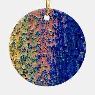Background  Custom Circle Ornamen Ceramic Ornament