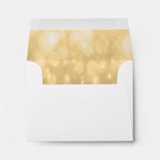 Background - Gold Bokeh Glitter Lights Envelope