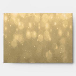 Background - Gold Bokeh Glitter Lights Envelopes