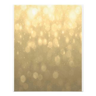 Background - Gold Bokeh Glitter Lights Flyer