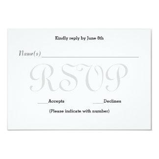 Background Gray Typo- RSVP Reception Response Card