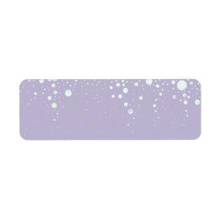 Background - Lavender Glitter Stars Label