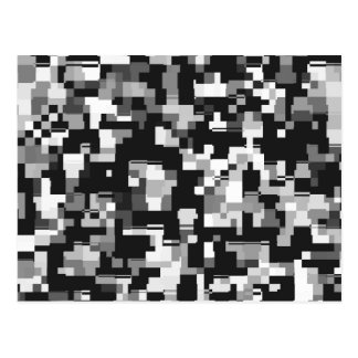 Background Noise in Black & White Postcard