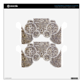 Background of black brown spotted animal fur PS3 controller skins