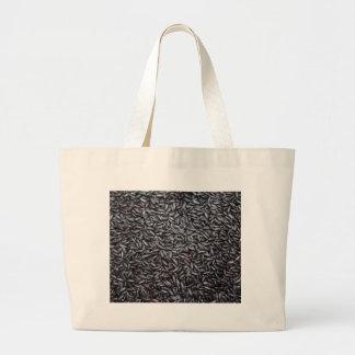Background of Black Purple Rice Canvas Bag