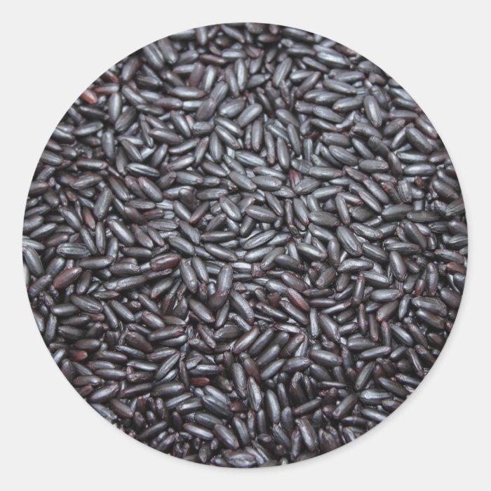 Background of Black Purple Rice Classic Round Sticker