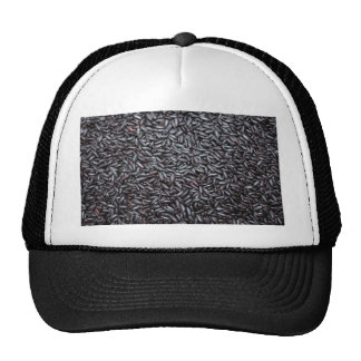 Background of Black Purple Rice Mesh Hat