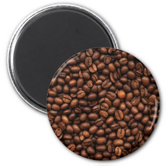 Background Of Coffee Beans 2 Inch Round Magnet