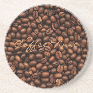 Background Of Coffee Beans Beverage Coasters