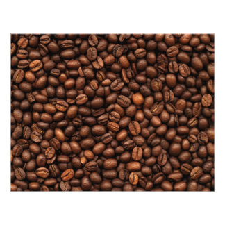 Background Of Coffee Beans Flyer