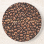 Background Of Coffee Beans Sandstone Coaster