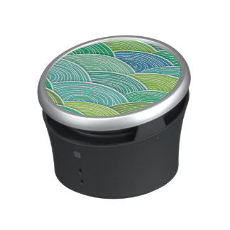 Background of curled abstract green waves speaker
